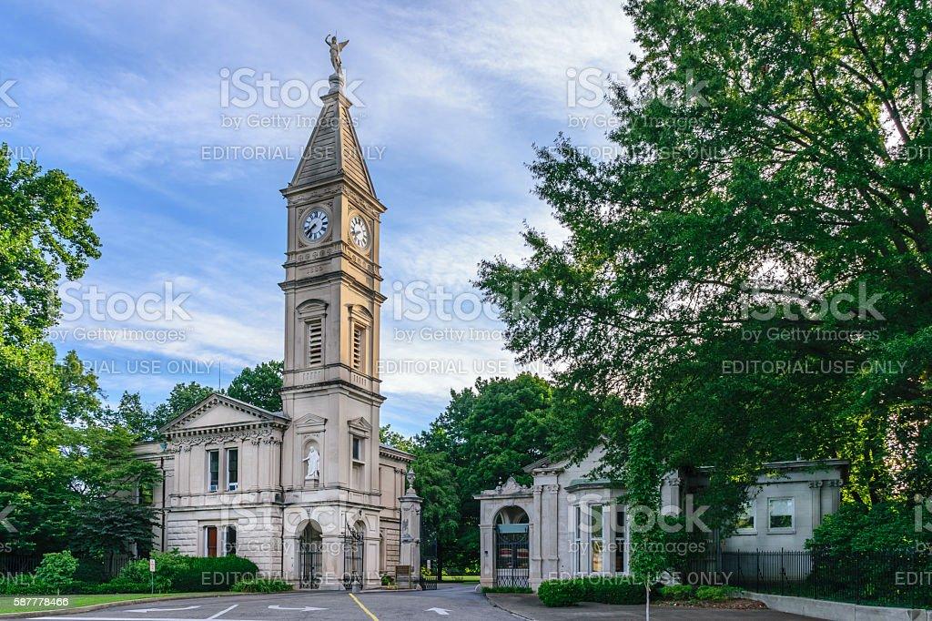 Cave Hill Cemetery Louisville Kentucky - Main Entrance stock photo