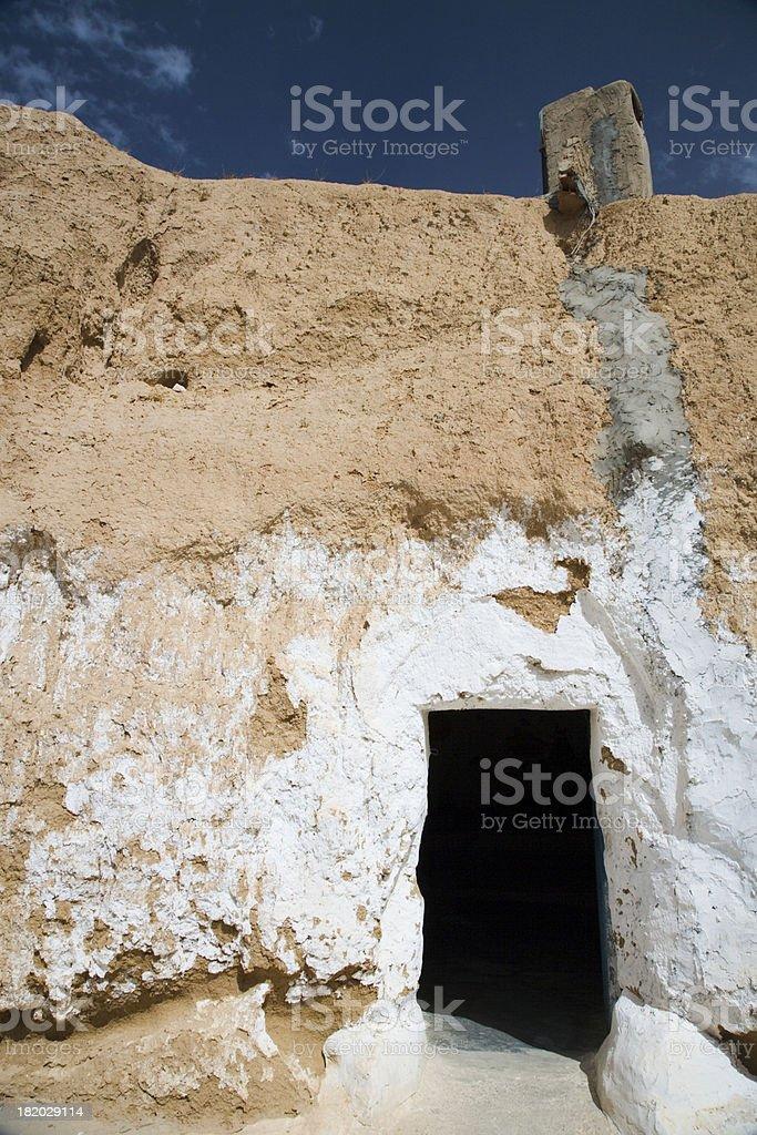 cave house sahara desert royalty-free stock photo