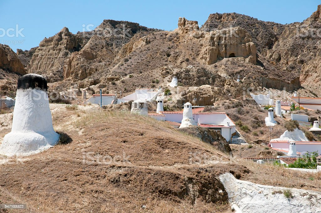 Cave Houses - Guadix - Spain stock photo