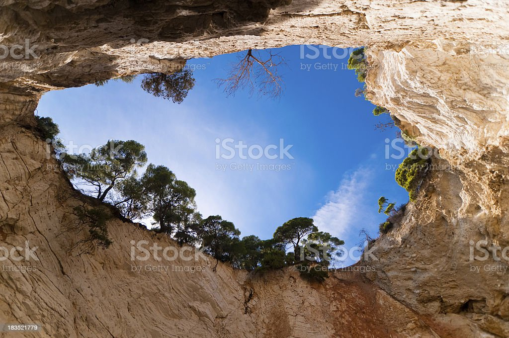 Cave in Apulia, Italy stock photo