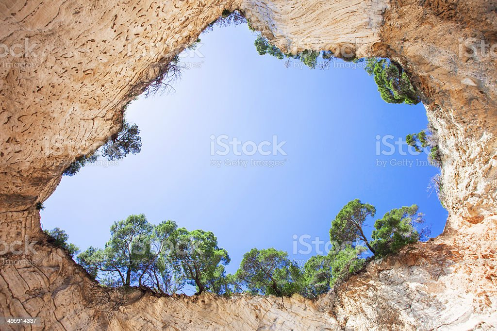 Cave in Italy stock photo