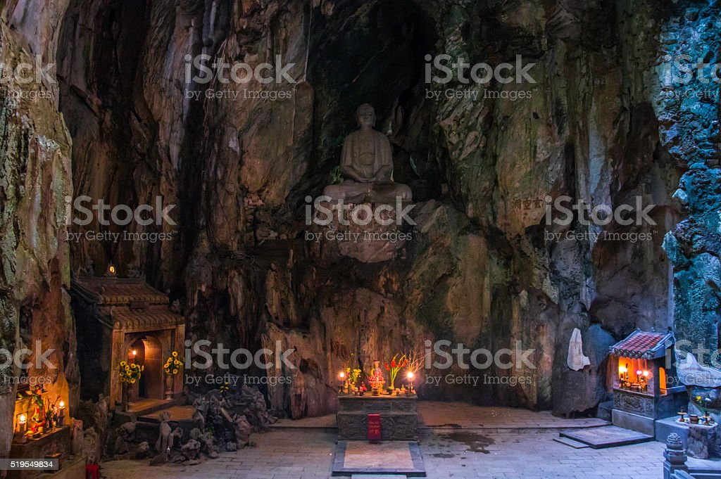 Cave in the Marble Mountains stock photo