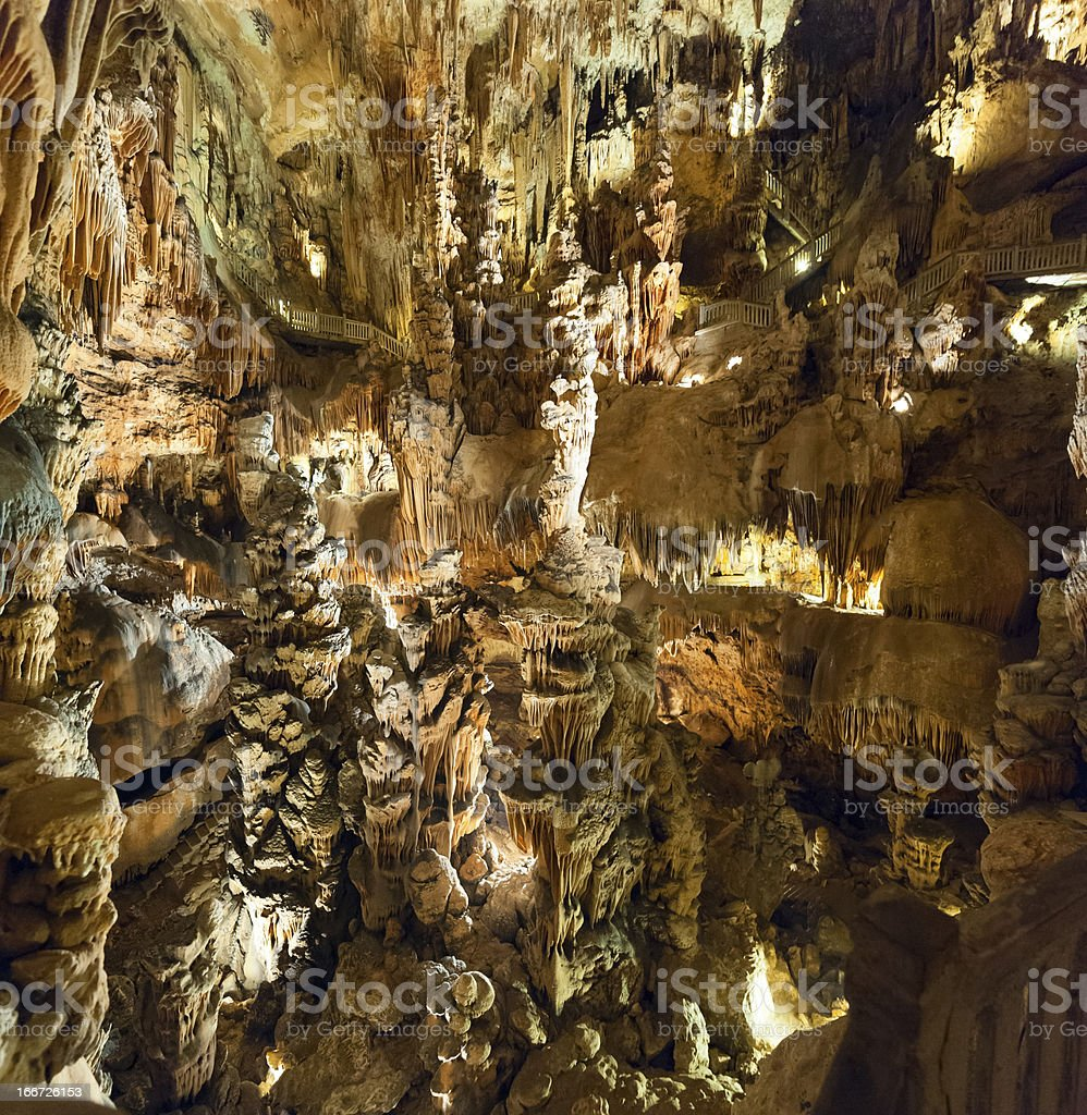 Grotte (cave) des Demoiselles royalty-free stock photo