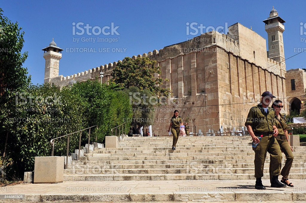 Cave of the Patriarchs in Hebron, Israel stock photo