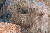 Cave on the coast at Arta in Mallorca, Spain.