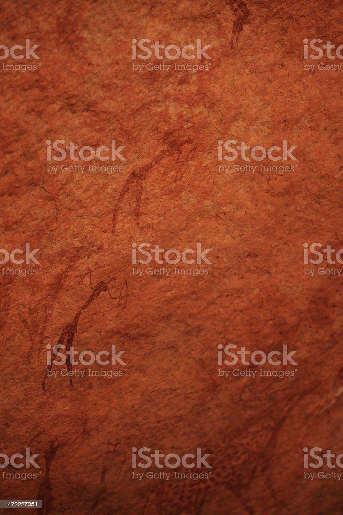 Höhlenmalerei in der algerischen Sahara stock photo