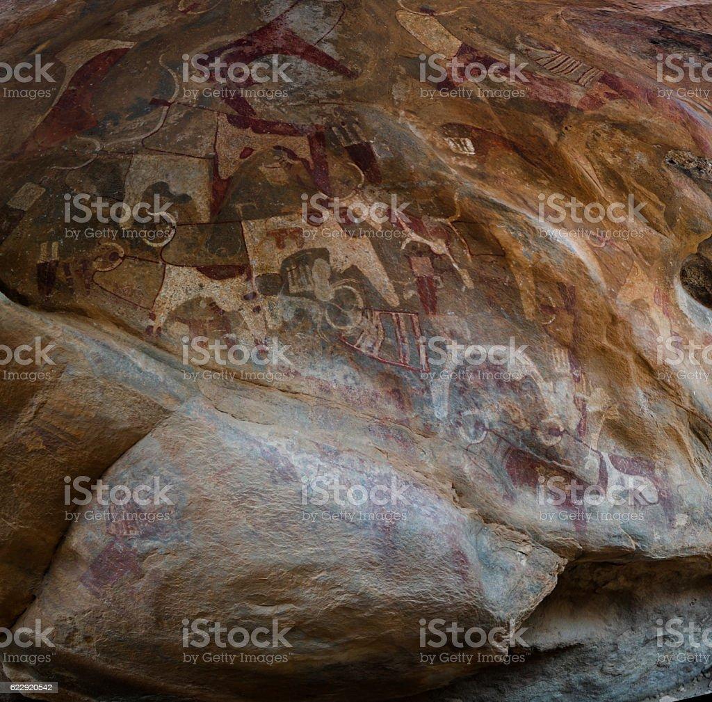 Cave paintings and petroglyphs Laas Geel, Hargeisa, Somalia stock photo