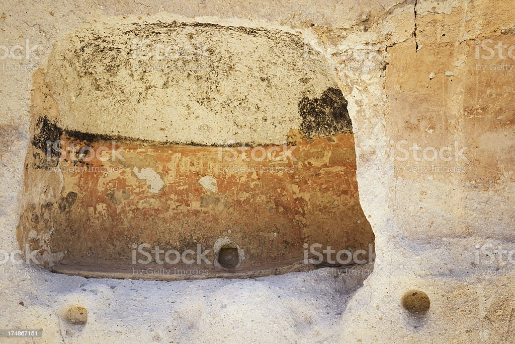 Cave Paintings - Bandelier National Monument royalty-free stock photo