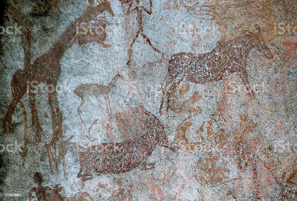Cave Paintings - Zimbabwe royalty-free stock photo