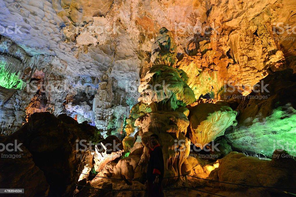 Cave Paradise' Ha Long Bay, Vietnam. royalty-free stock photo