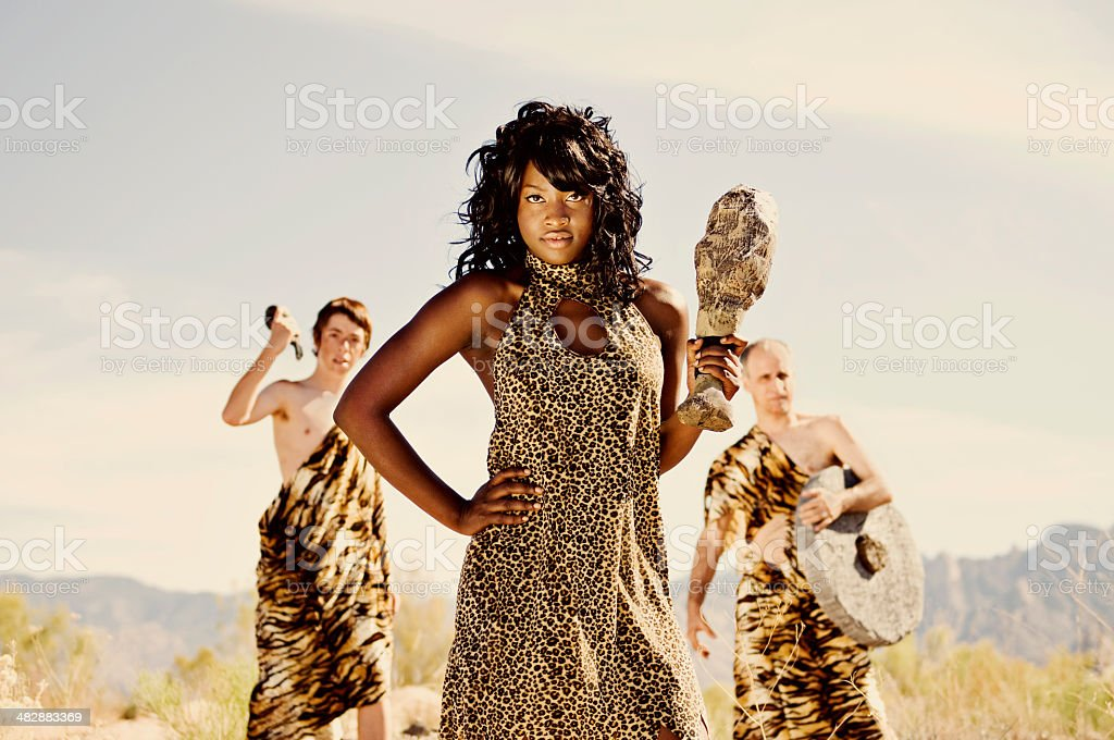 Cave People royalty-free stock photo