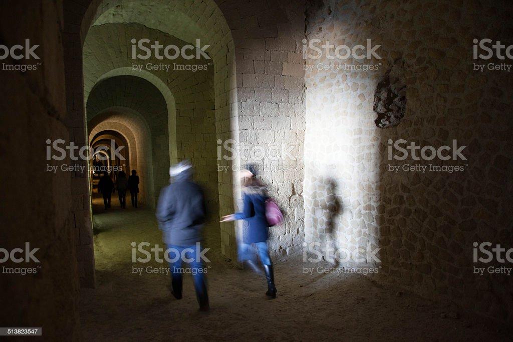 Cave Seiano stock photo
