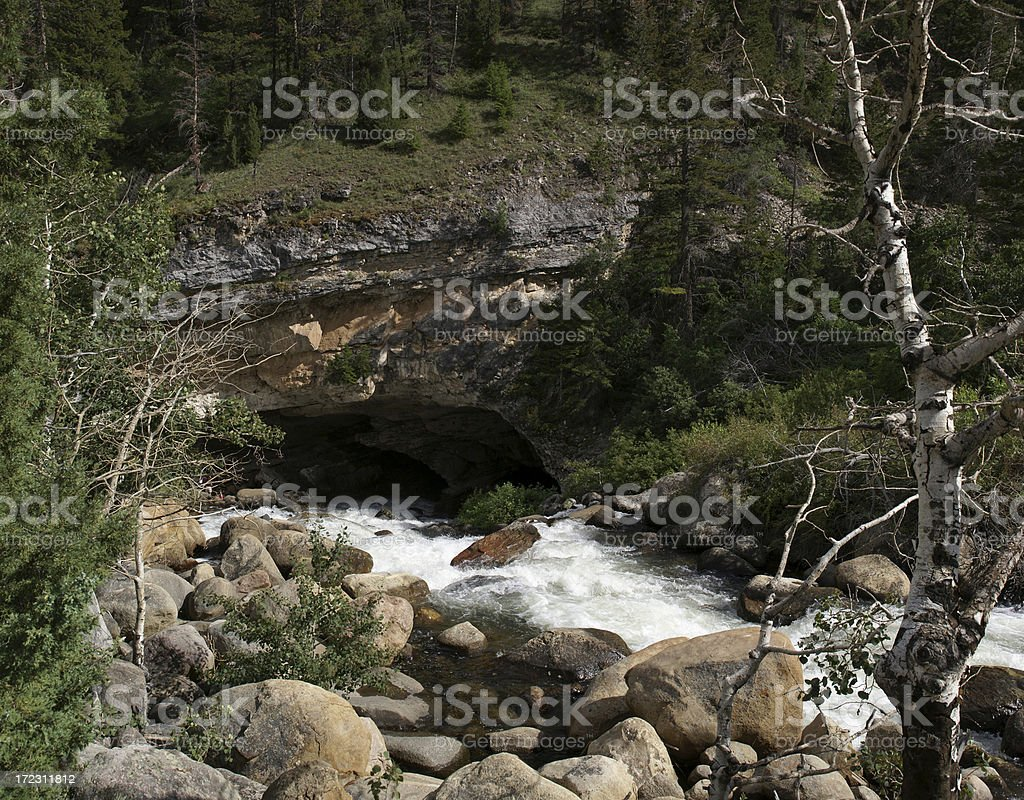 Cave Sinks Canyon royalty-free stock photo