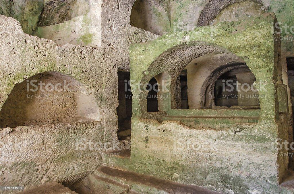 Cave Tombs in Seleukeia Pieria, Antakya, Turkey stock photo