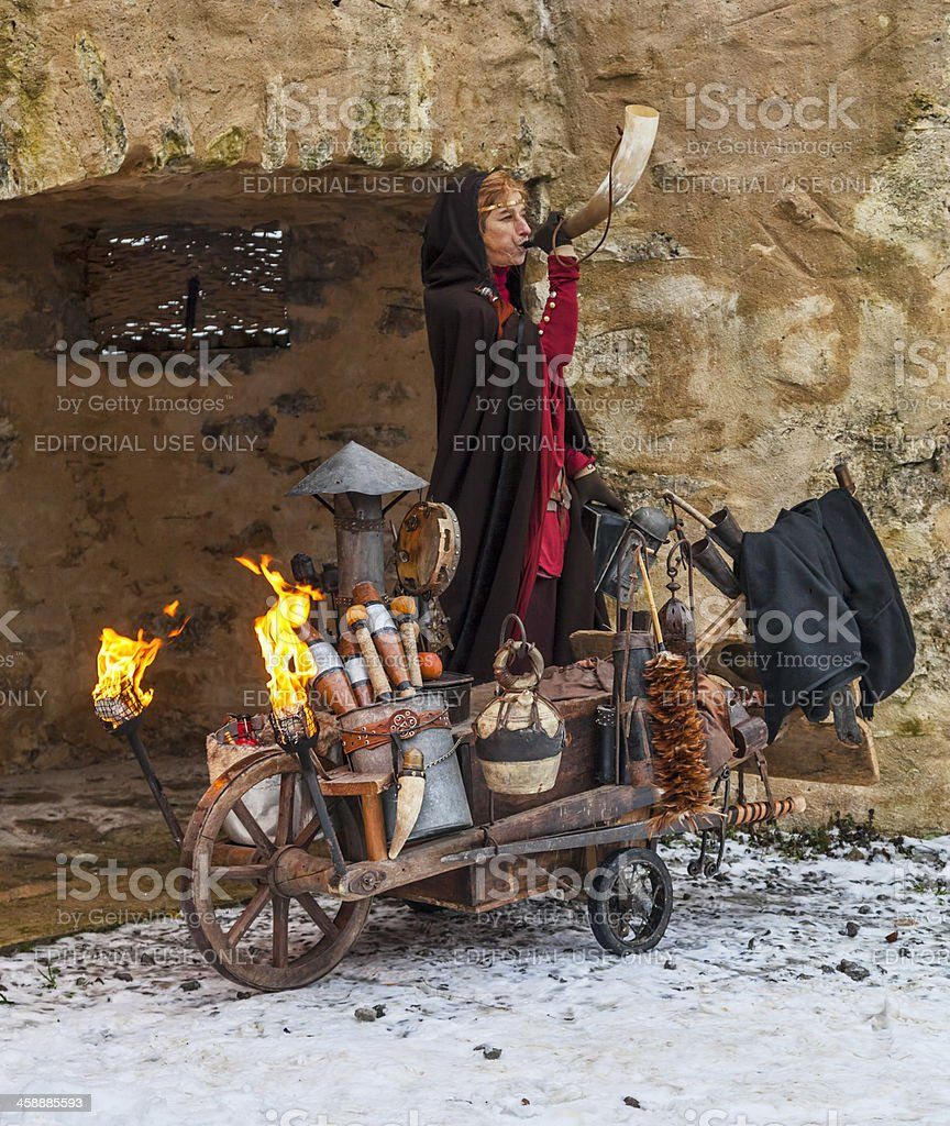 Cave Woman royalty-free stock photo