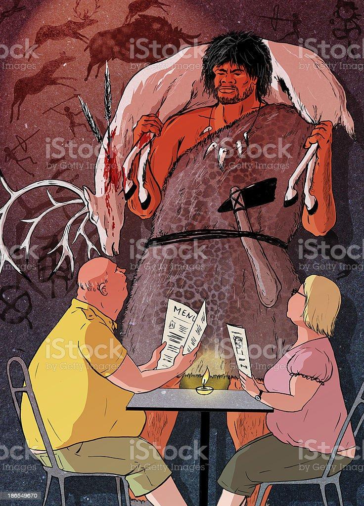 Caveman diet stock photo