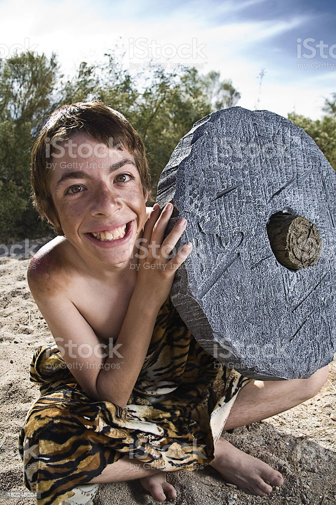 Caveman royalty-free stock photo
