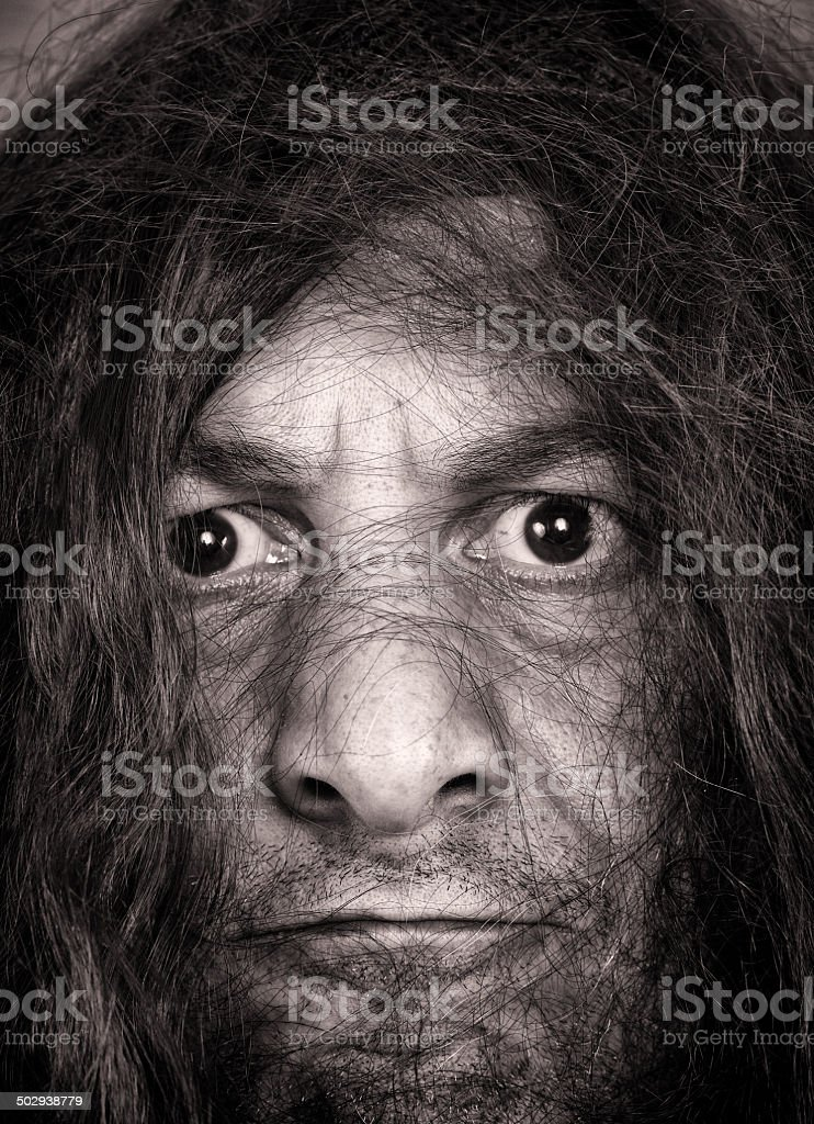 Caveman stock photo