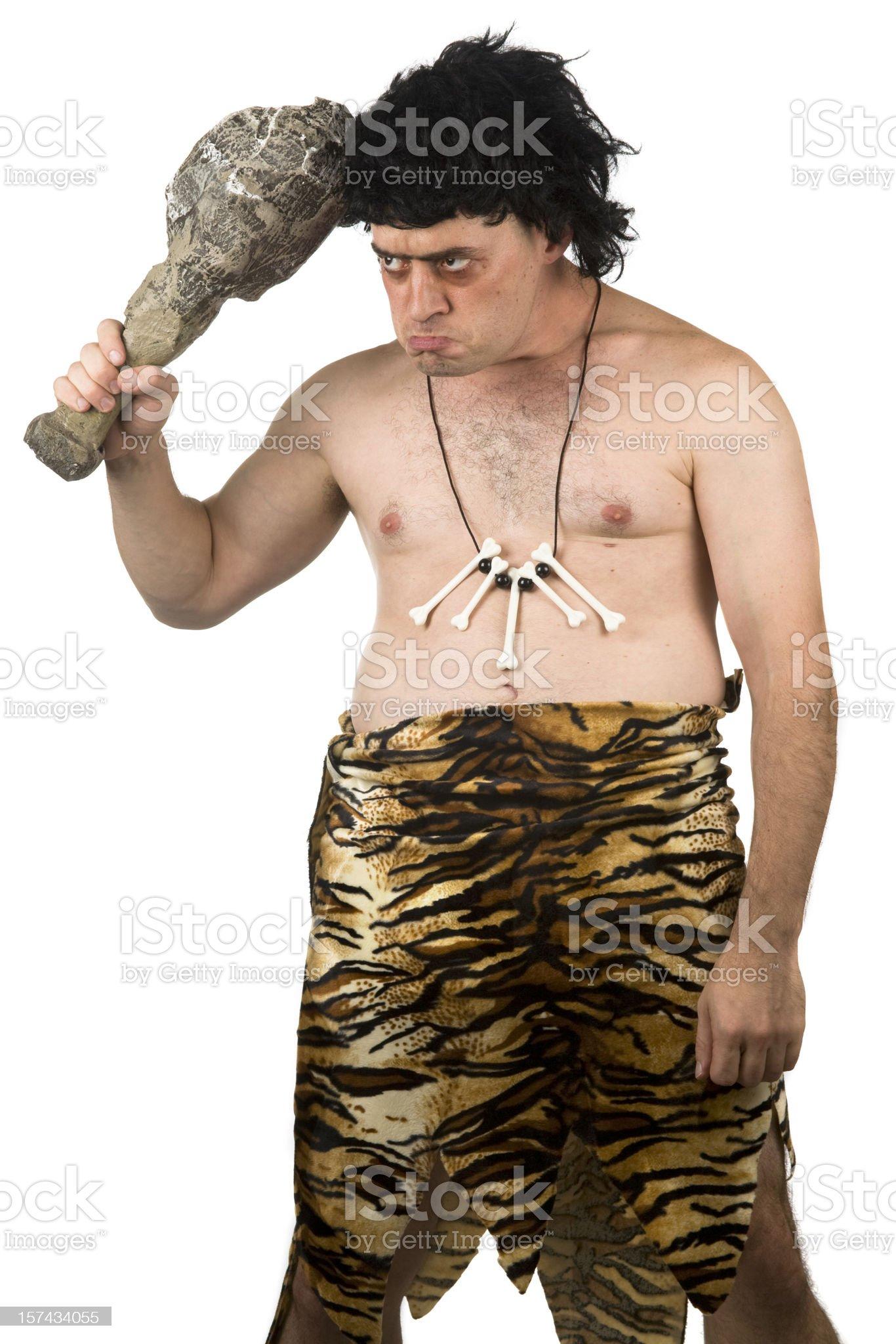 Caveman Thinking royalty-free stock photo