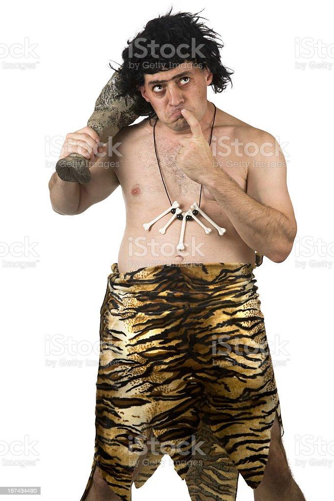 Caveman Thinking stock photo