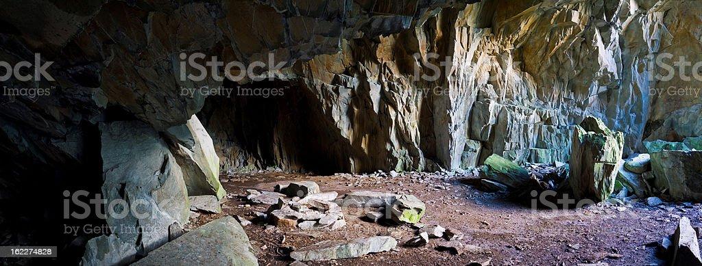 Caveman's cave stock photo