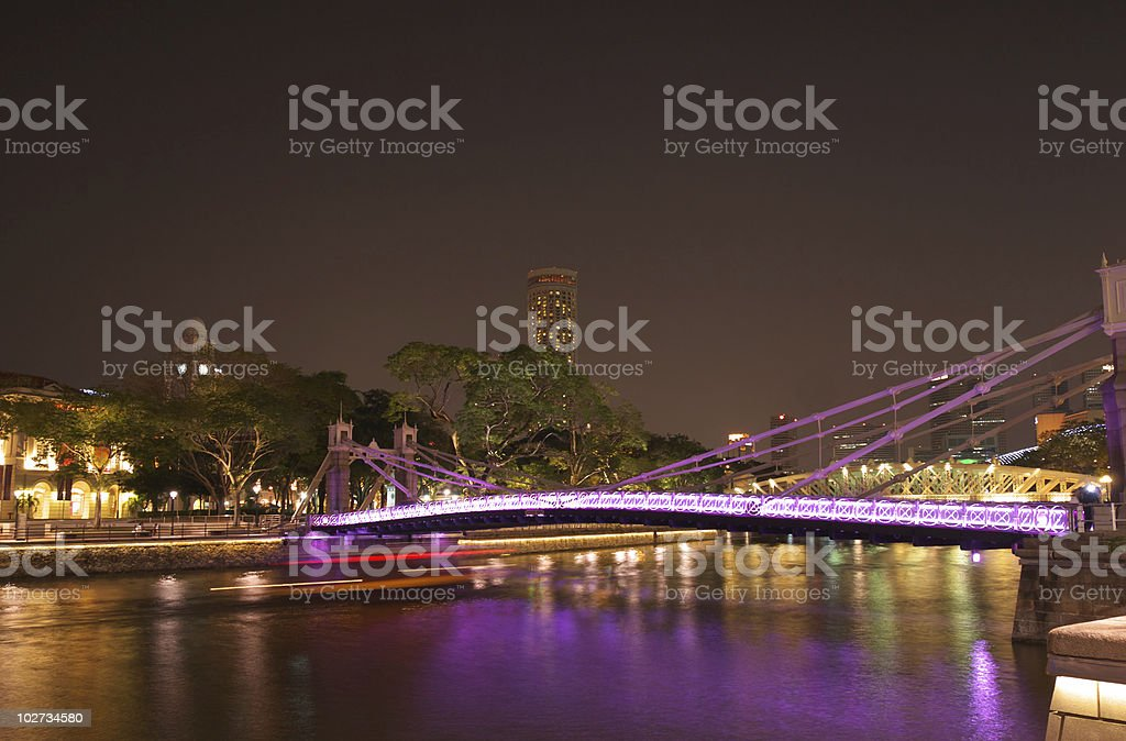 Cavenagh Bridge stock photo