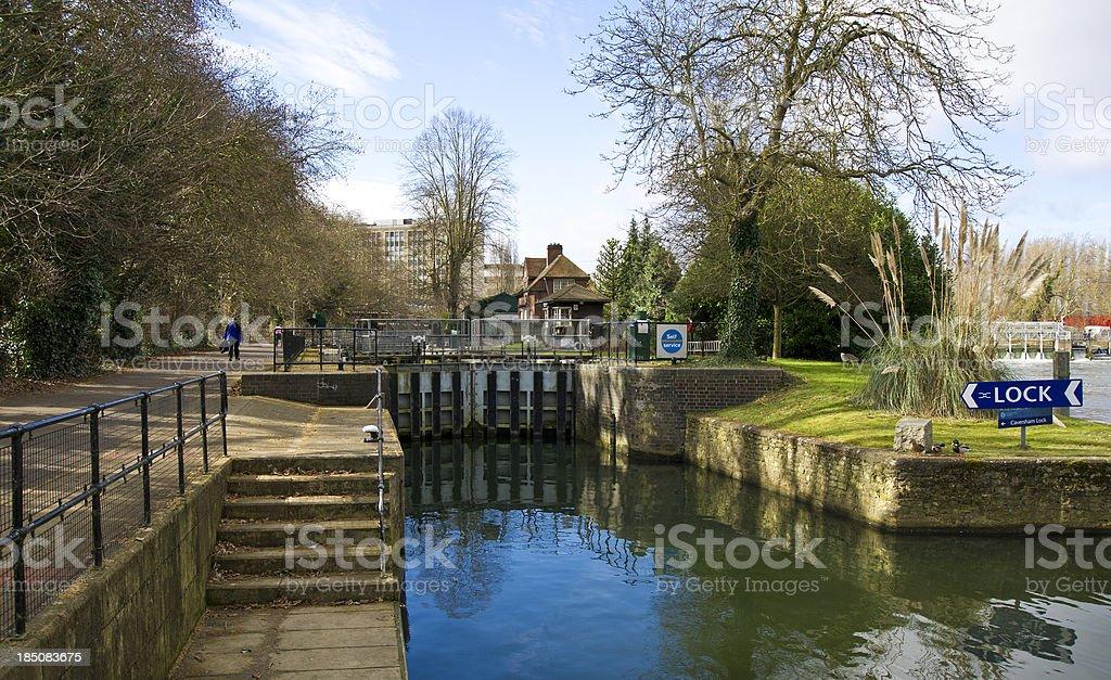 Caversham Lock stock photo