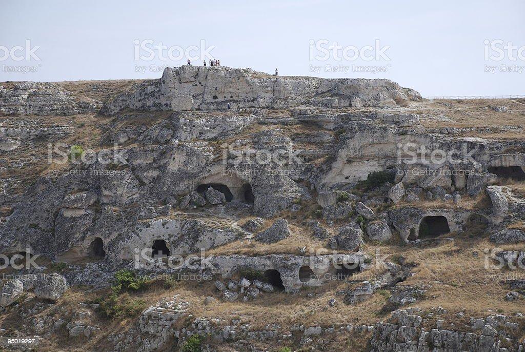 Caves at Matera stock photo