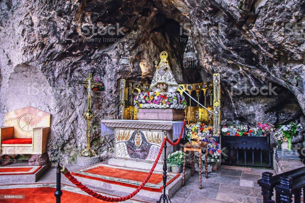 Caves of Covadonga, Asturias, Spain stock photo