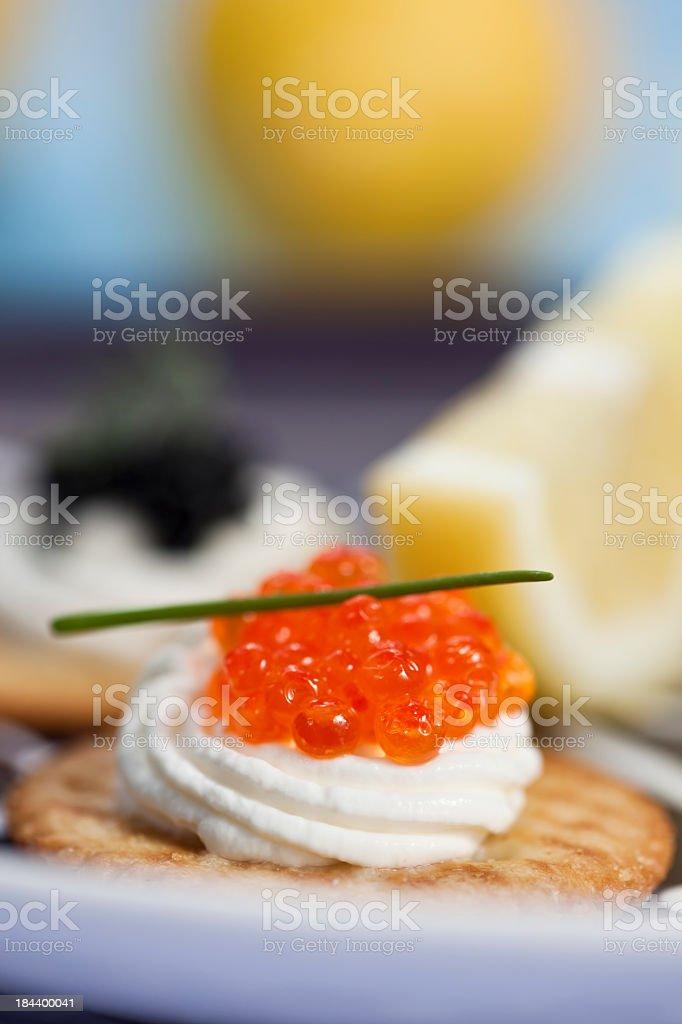Caviar Appetizer stock photo