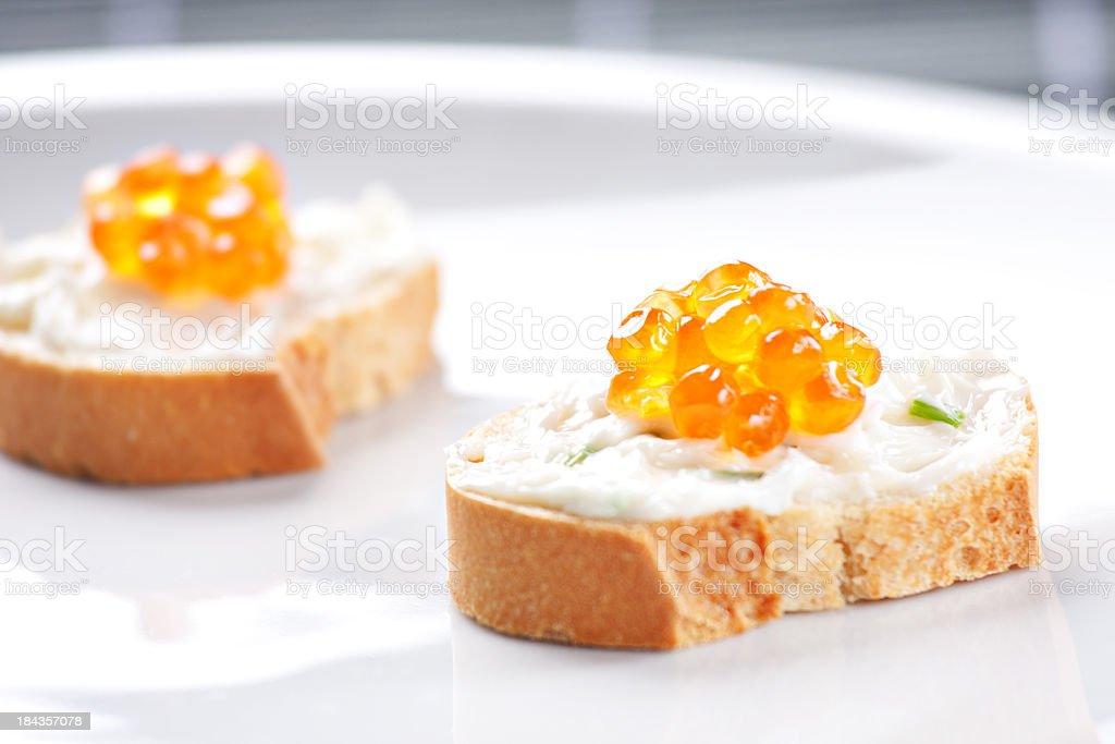 Caviar Canapes royalty-free stock photo