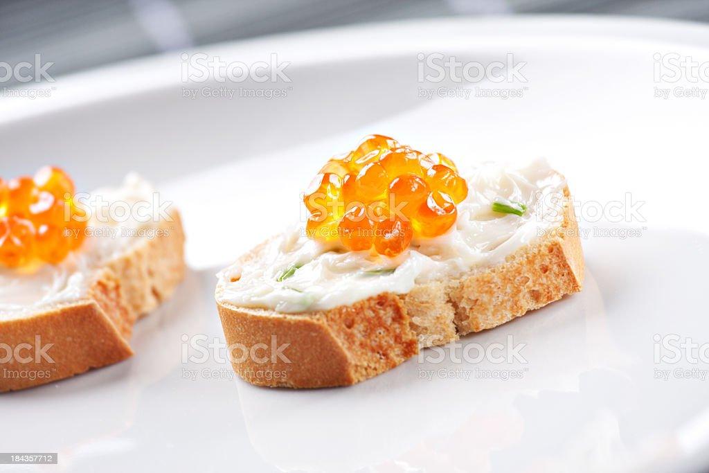 Caviar Canapes stock photo
