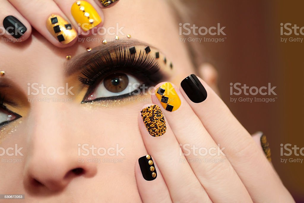 Caviar manicure. stock photo