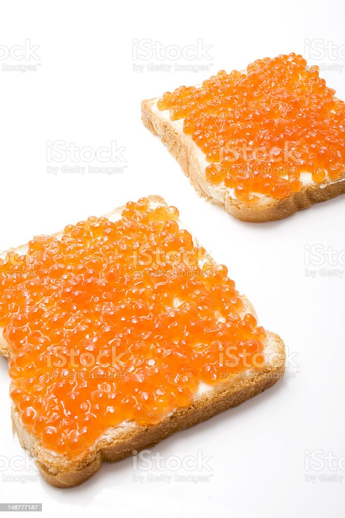 caviare sandwiches royalty-free stock photo