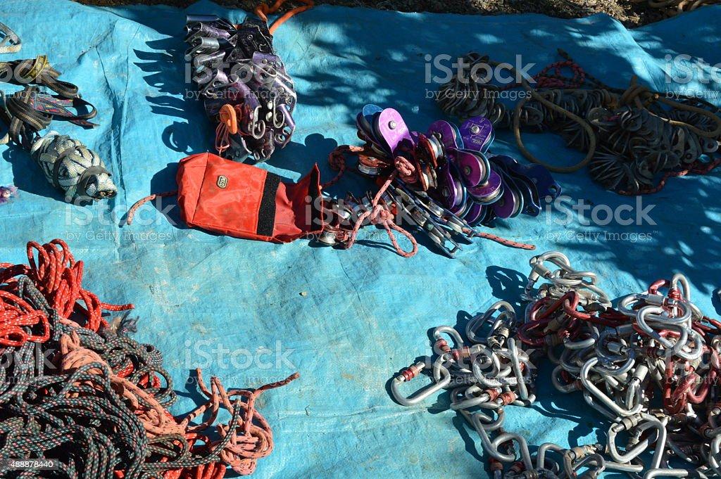 Caving Equipment stock photo