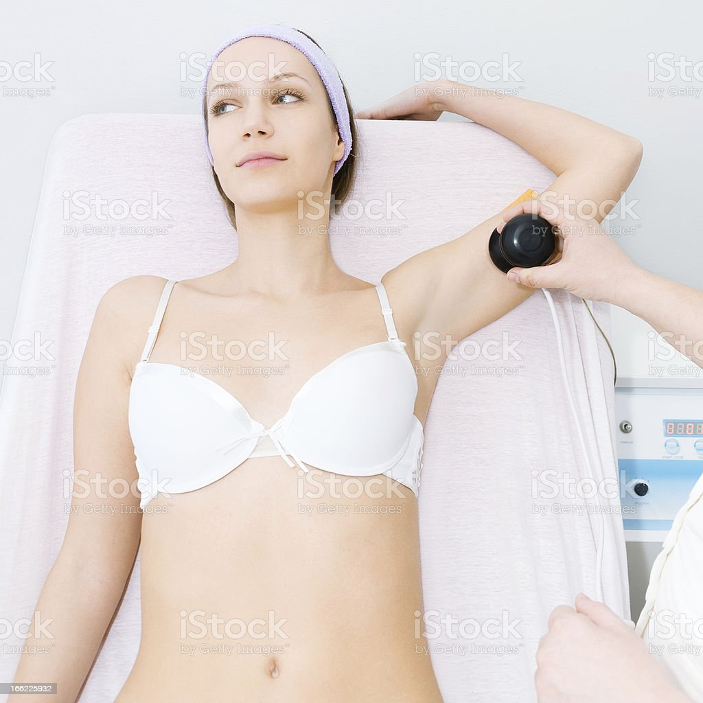 Cavitation treatment royalty-free stock photo