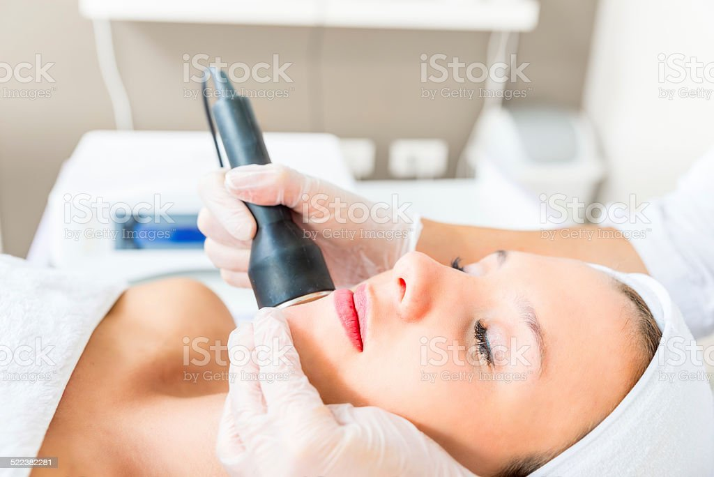 Cavitation treatment stock photo