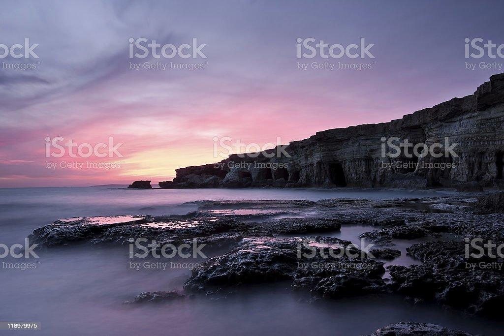Cavo Greco Sunset II royalty-free stock photo