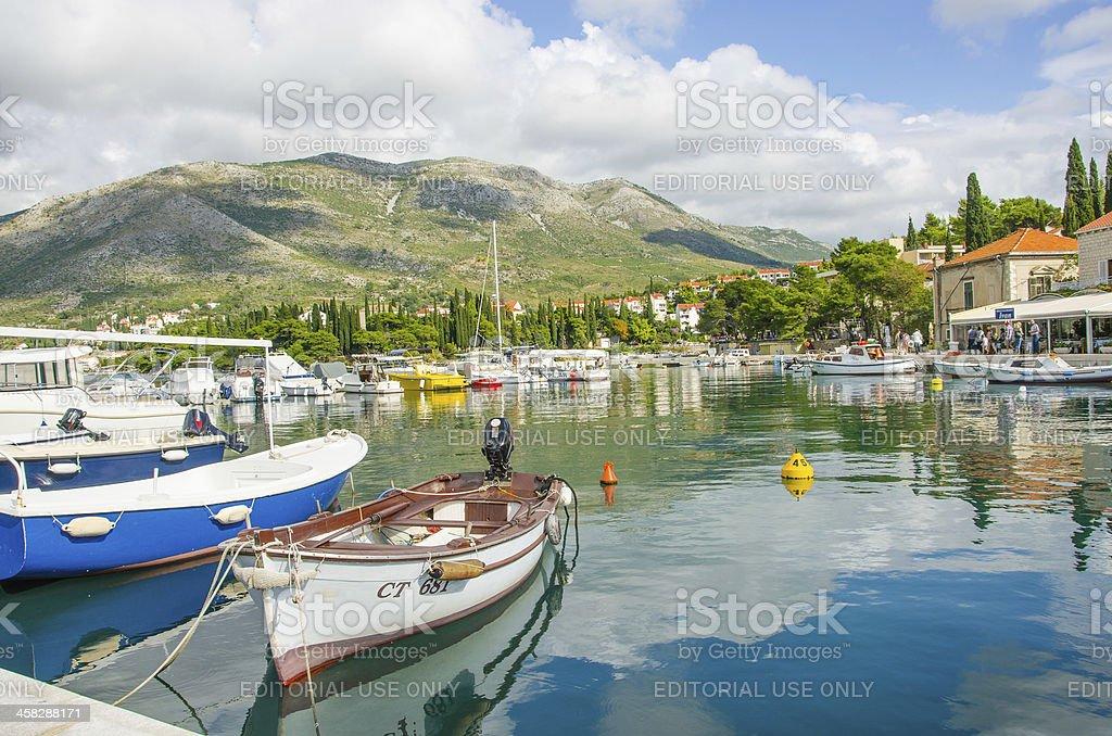 Cavtat, Croatia - port stock photo