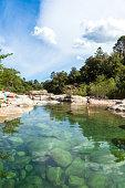 Cavu natural pool Sainte Lucie in Corsica, France