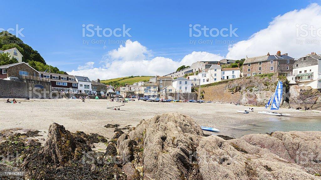 Cawsand plage Cornwall photo libre de droits