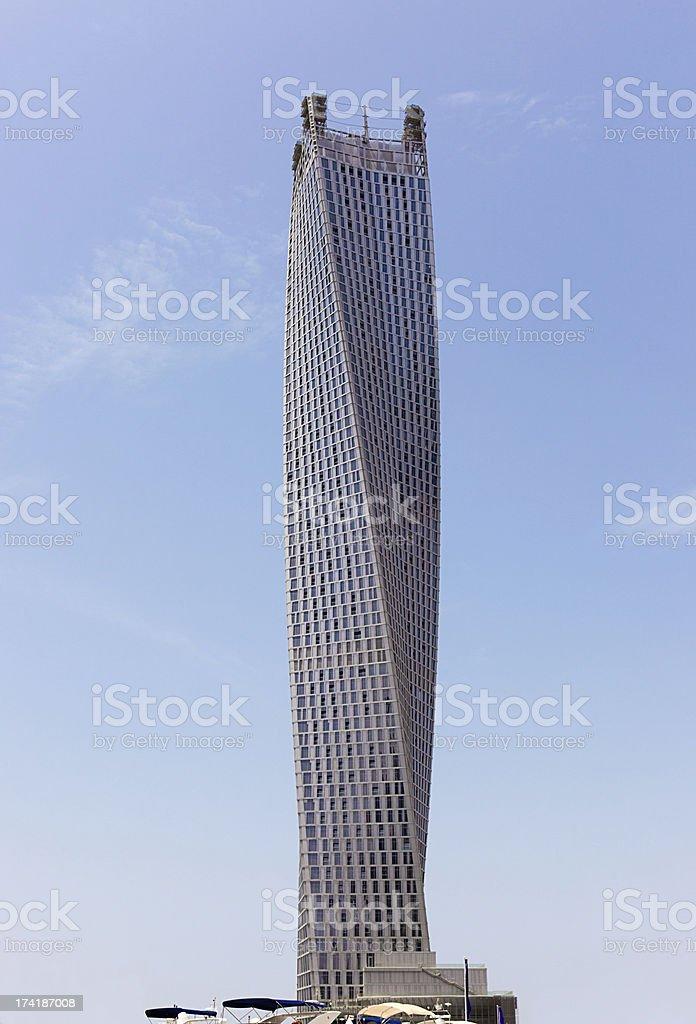 Cayan Tower Dubai royalty-free stock photo