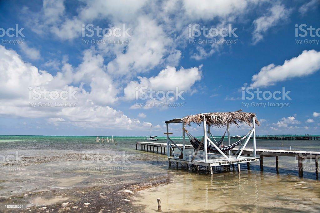 Caye Caulker Palapa royalty-free stock photo