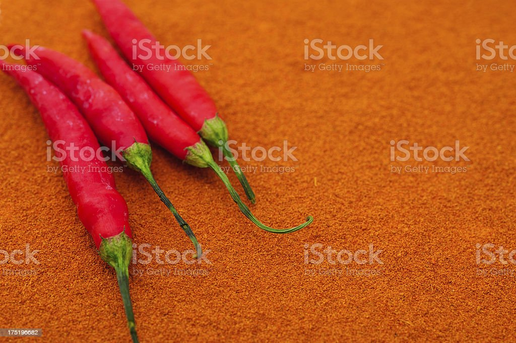 Cayenne Pepper with Chilis royalty-free stock photo