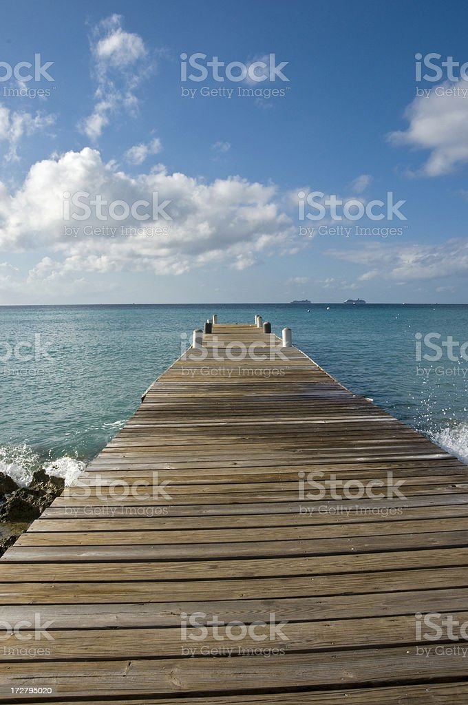 Cayman Islands Jetty royalty-free stock photo