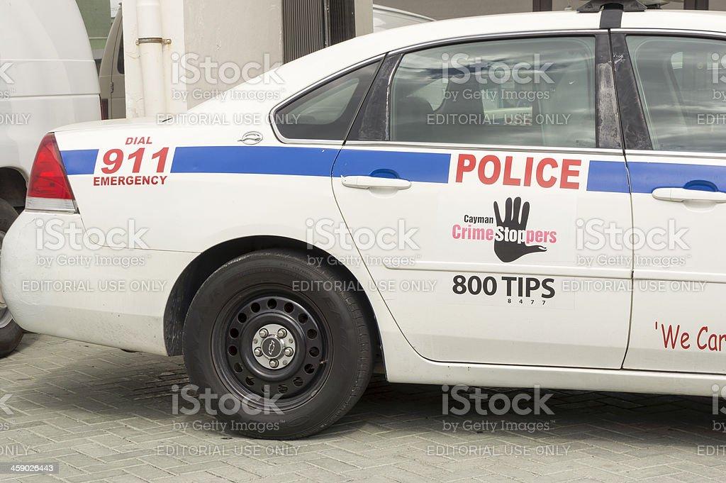 Cayman Police car royalty-free stock photo