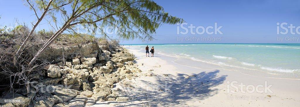 Cayo Guillermo beach stock photo