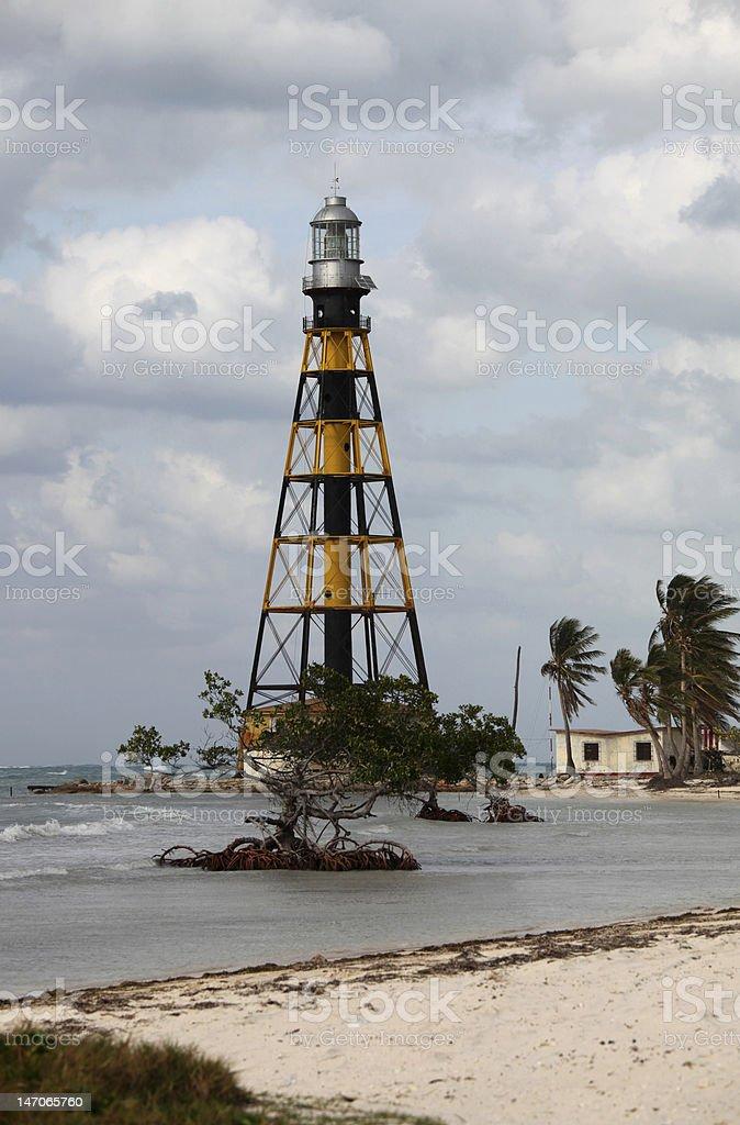 カヨ Jutias (Key)灯台とビーチで、キューバ ロイヤリティフリーストックフォト