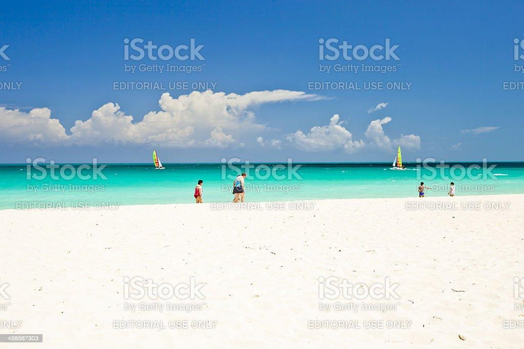Cayo Santa Maria Beach stock photo