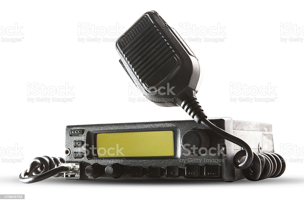 cb radio transceiver station stock photo